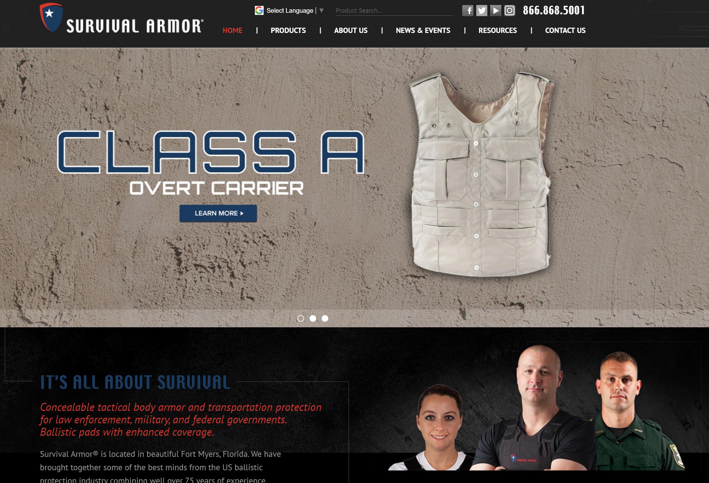 survival armor website
