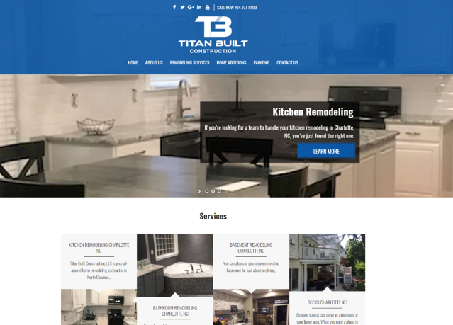 titan built construction website