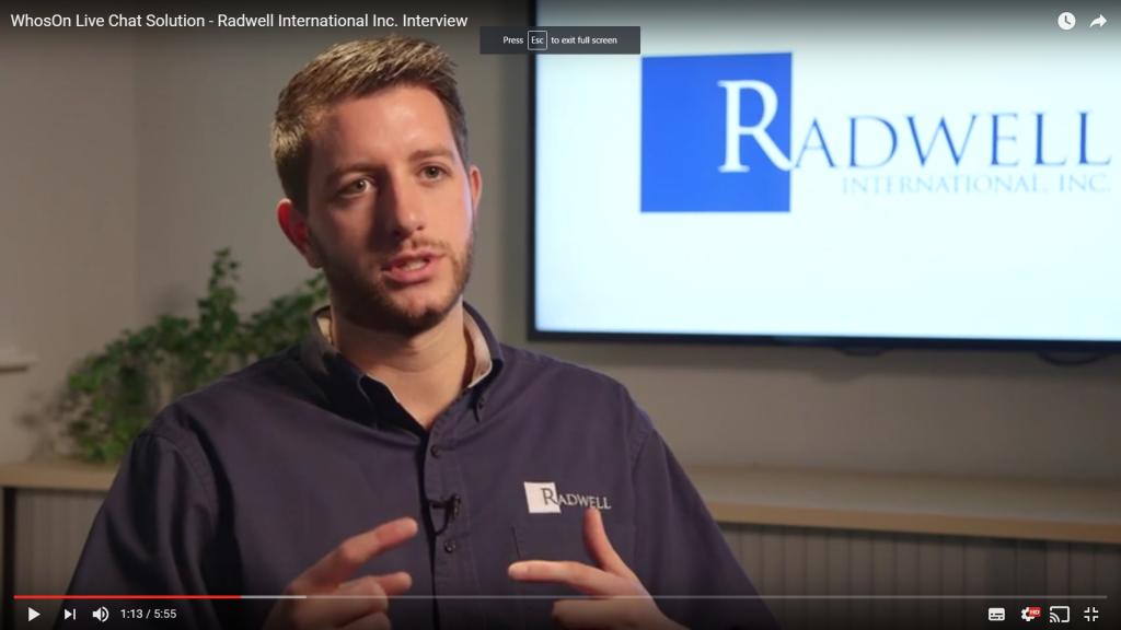 Video case study: Radwell International | WhosOn