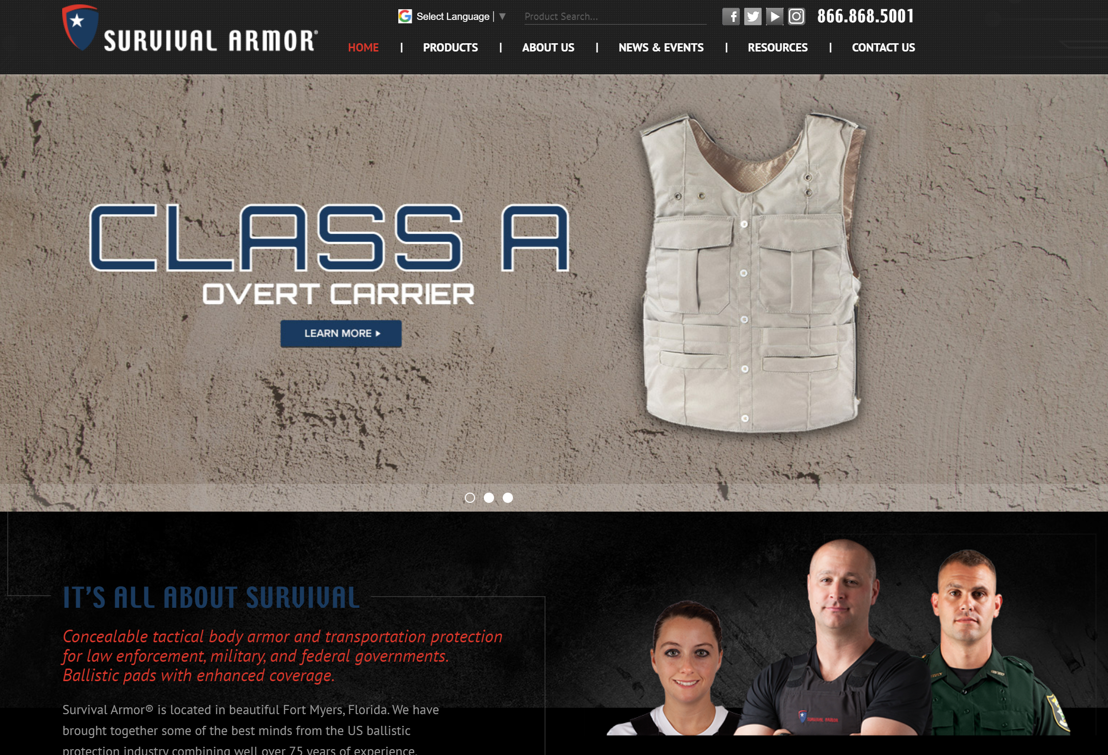 survival armor website