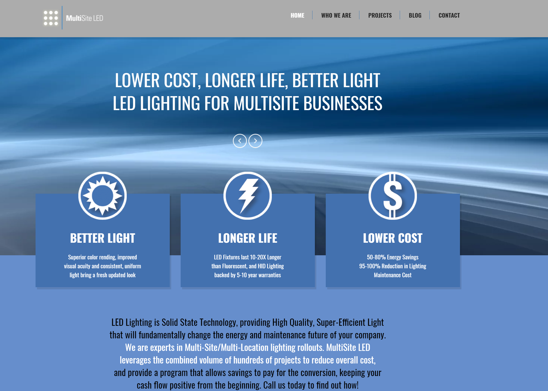 multisite led website