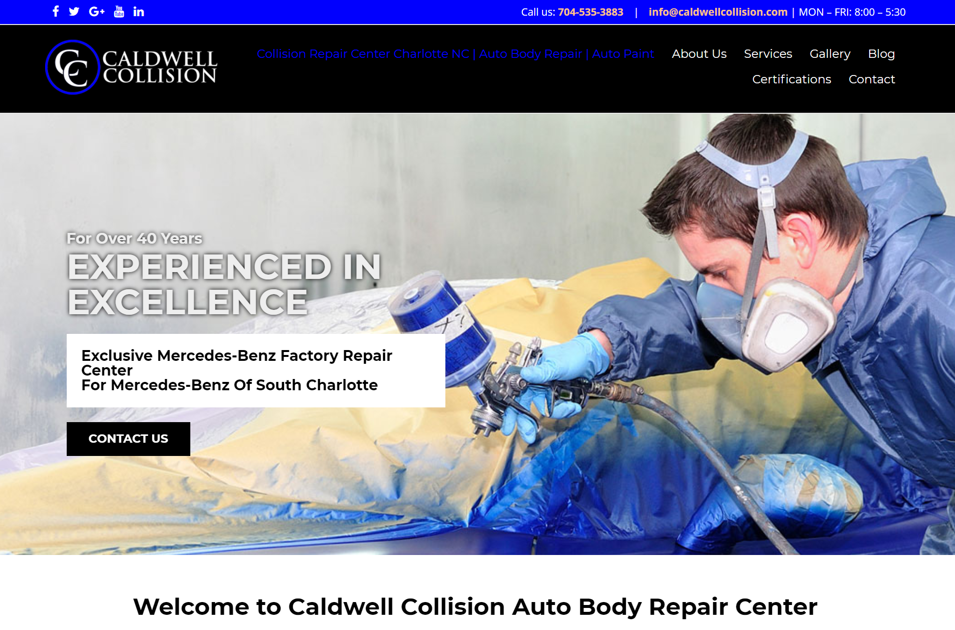 caldwell collision website